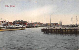 Ansichtkaart Urk Haven met schepen 1934 HC12053