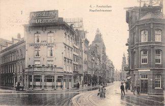 Ansichtkaart Amsterdam Reguliersbreestraat Café Restaurant Louis XVI 1927 HC12061