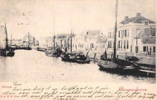 Ansichtkaart Brouwershaven Haven met vissers schepen 1902 HC12063