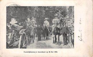 Ansichtkaart Amersfoort Feestelijkheden op 28 mei 1903 HC12067