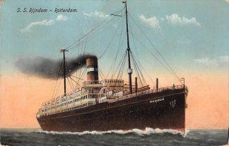 Ansichtkaart Rotterdam Holland America Line S.S. Rijndam I 1916 Scheepvaart Schepen HC12077