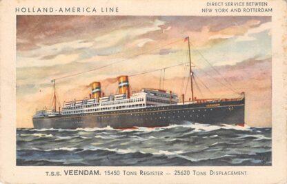 Ansichtkaart Rotterdam Holland America Line t.s.s. Veendam Scheepvaart Schepen HC12078