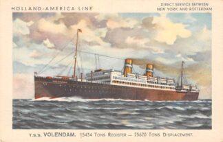 Ansichtkaart Rotterdam Holland America Line t.s.s. Volendam I HC12079