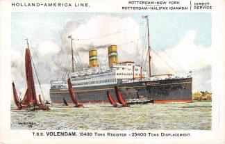 Ansichtkaart Rotterdam Holland America Line t.s.s. Volendam I Scheepvaart Schepen HC12080