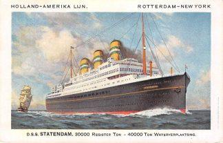 Ansichtkaart Rotterdam Holland America Line d.s.s. Statendam 3 Scheepvaart Schepen HC12081