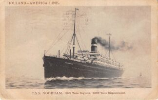 Ansichtkaart Rotterdam Holland America Line T.S.S. Noordam 1912 Scheepvaart Schepen HC12087