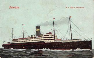 Ansichtkaart Rotterdam Holland America Line S.s. Nieuw Amsterdam 1908 Scheepvaart Schepen HC12099