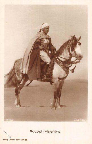 Ansichtkaart Film Filmster Rudolph Valentino te paard Ross Verlag 1534/3 HC12127