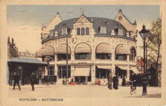 Ansichtkaart Rotterdam Hofplein Station Z.H.E.S.M. Spoorwegen Wachthuisje Tram RETM Café Restaurant Loos 1922 HC12236