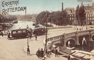 Ansichtkaart Rotterdam Noorderbrug Rotte 1911 RETM Tram Binnenvaart schepen Scheepvaart HC12270