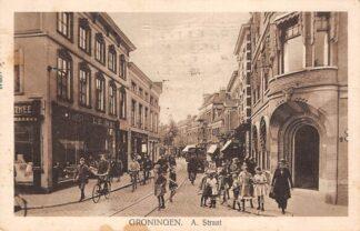 Ansichtkaart Groningen A. Straat Winkel Simon de Wit 1927 HC12281
