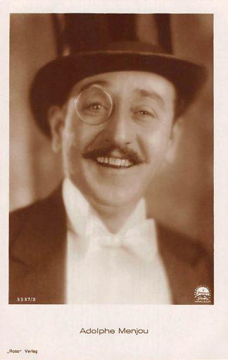 Ansichtkaart Film Filmster Adolphe Menjou Ross Verlag 3337/2 Paramount Pictures HC12319