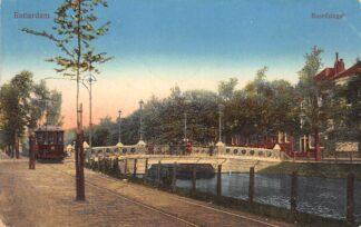 Ansichtkaart Rotterdam Noordsingel Brug tegenover Zomerhofstraat RETM Tram 51 Lijn 3 1913 HC12345
