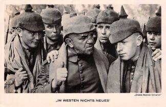 "Ansichtkaart Film Filmster Soldaten in de film ""Im Westen nichts neus"" WO1 Croeze Bosman Universal HC12397"