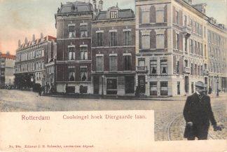 Ansichtkaart Rotterdam Coolsingel hoek Diergaardelaan HC12430