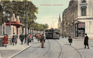 Ansichtkaart Rotterdam Kruiskade met ingang Diergaarde RETM Tram 1911 HC12460