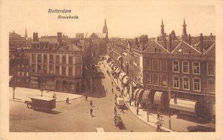 Ansichtkaart Rotterdam Kruiskade hoek Coolsingel HC12466