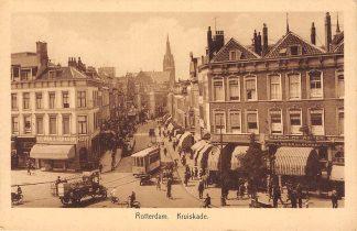 Ansichtkaart Rotterdam Kruiskade hoek Coolsingel RETM Tram HC12467