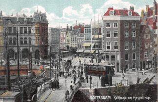 Ansichtkaart Rotterdam Kolkkade en Mosseltrap RETM Tram HC12485
