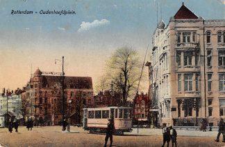 Ansichtkaart Rotterdam Oudenhoofdplein Hotel Weimar RETM Tram HC12502