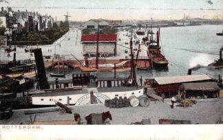 Ansichtkaart Rotterdam Haven Maas 1907 Molens Stoomschip Nijmegen - Rotterdam Binnenvaart schepen Scheepvaart HC12503