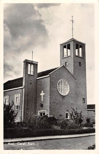 Ansichtkaart Axel Gereformeerde Kerk Zeeuws-Vlaanderen 1967 HC12559