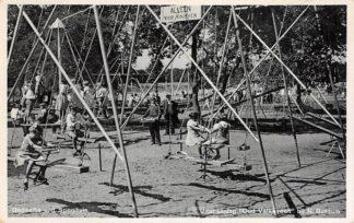 Ansichtkaart Naarden Bussum Uitspanning Oud Valkeveen Gedeelte van de speeltuin 1937 HC12568