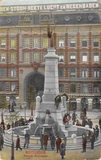 Ansichtkaart Rotterdam Calandplein Monument en Passage 1908 HC12654