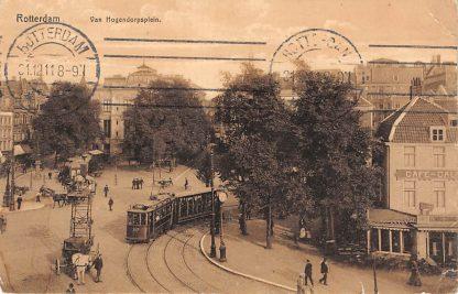 Ansichtkaart Rotterdam Van Hogendorpsplein RETM Tram 107 Lijn 1 Café Caland 1911 HC12659