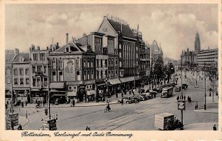 Ansichtkaart Rotterdam Coolsingel met Oude Binnenweg Auto bus HC12660