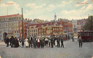 Ansichtkaart Rotterdam Coolsingelplein RETM Tram lijn 1 1914 HC12664