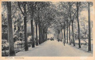Ansichtkaart Dokkum Stationsweg 1937 HC12685