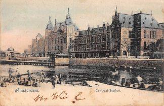 Ansichtkaart Amsterdam Centraal Station 1903 Spoorwegen HC12688