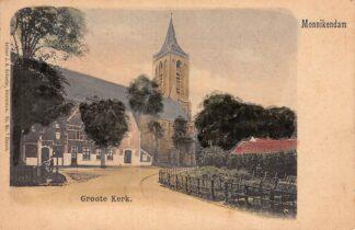 Ansichtkaart Monnickendam Groote Kerk HC12690
