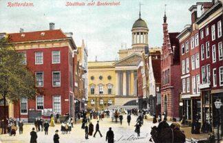Ansichtkaart Rotterdam Botersloot met Stadhuis 1905 HC12719