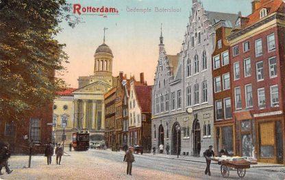 Ansichtkaart Rotterdam Botersloot Gedempte Bootersloot RETM Tram 1910 HC12720