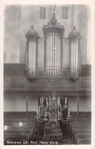 Ansichtkaart Nieuwaal Interieur Ned. Hervormde kerk Orgel Zaltbommel HC12723