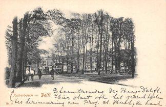Ansichtkaart Delft Kalverbosch met Paardentram Tram HC12738