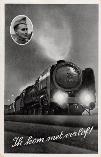 Ansichtkaart Militair Ik kom met verlof! Treinen Spoorwegen HC12762