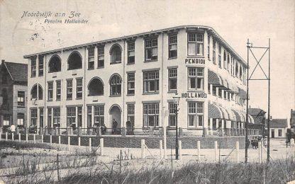 Ansichtkaart Noordwijk aan Zee Pension Hollander 1916 HC12791