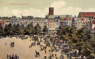 Ansichtkaart Utrecht Paardenmarkt Paarden Markt 1910 HC12804