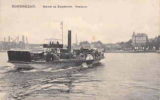 Ansichtkaart Dordrecht Gezicht op Zwijndrecht Veerpont Molen Veer Binnenvaart schepen Scheepvaart HC12814