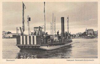 Ansichtkaart Dordrecht Veerpont Zwijndrecht Veer Binnenvaart schepen Scheepvaart HC12815