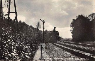 Ansichtkaart Dordrecht Spoorbaan Dubbeldamscheweg - Achterweg met Stoomtrein 1934 Spoorwegen Treinen HC12816