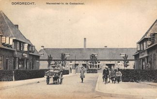Ansichtkaart Dordrecht Mauvestraat Is. da Costa school 1927 Hondenkar HC12823