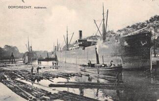 Ansichtkaart Dordrecht Kalkhaven Binnenvaart schepen Scheepvaart Sleepboot HC12833