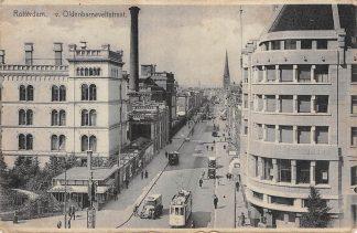 Ansichtkaart Rotterdam Coolsingel hoek Van Oldebarneveltstraat RETM Tram HC12875