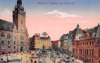 Ansichtkaart Duitsland Elberfeld Rathaus und Neumarkt Tram 1922 Deutschland Europa HC12960