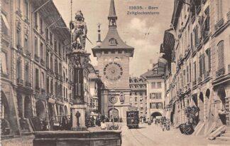 Ansichtkaart Zwitserland Bern Zeitglockenturn Tram 1923 Schweiz Suisse Switzerland Europa HC12968