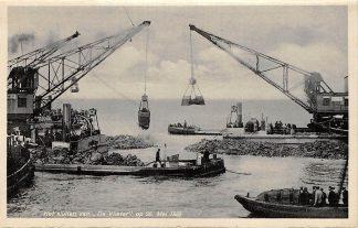 Ansichtkaart Den Oever Het sluiten van De Vlieter op 28 Mei 1932 Afsluitdijk IJsselmeer Wieringen HC12970